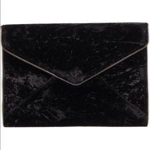 Rebecca Minkoff Bags - Rebecca Minkoff Black Velvet Leo Clutch